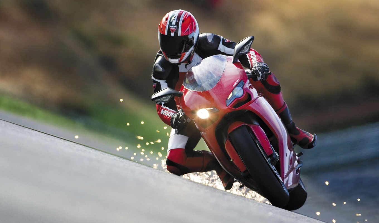 мотоциклы, гонка, скорость, спортивные, красный,