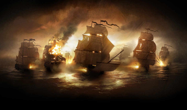 корабли, кораблей, картинка,