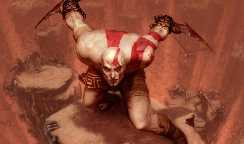 dios, guerra, kratos, fondos, pantalla, guerrero, fondo, imágenes, espartano,