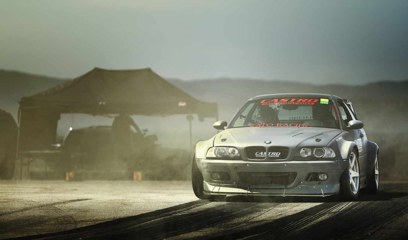 drift, with, car, bmw,
