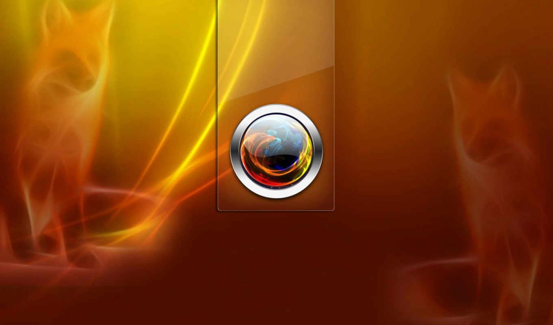 mozilla, firefox, browser, рыжий, лиса, свет