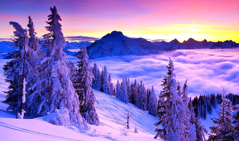 природа, landscape, пейзажи -, winter, теги, desktop,