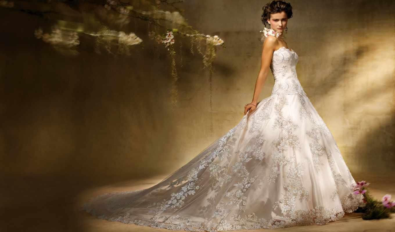 платье, девушка, свадебное, платья,