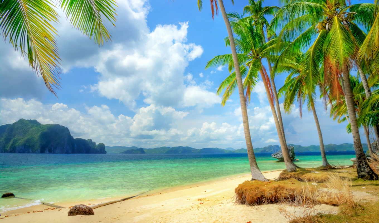 рай, tropical, море, ocean, пляж, побережье, emerald, blue,