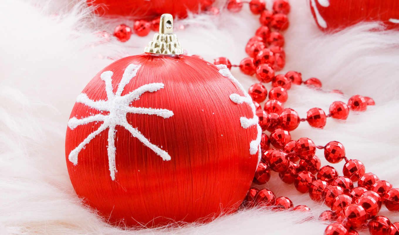 christmas, шар, год, новый, праздник, красный, fondo, pantalla, rojo, бусы, adorno,