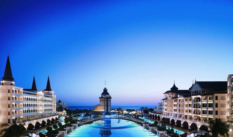 hotel, дворец, mardan, turkey, бассейн,