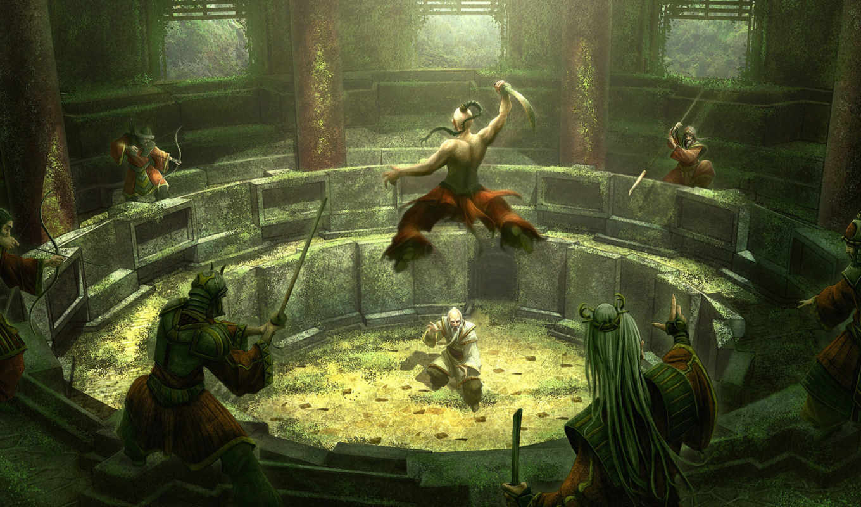 kerem, beyit, битва, arena, герой, castle, фэнтези,