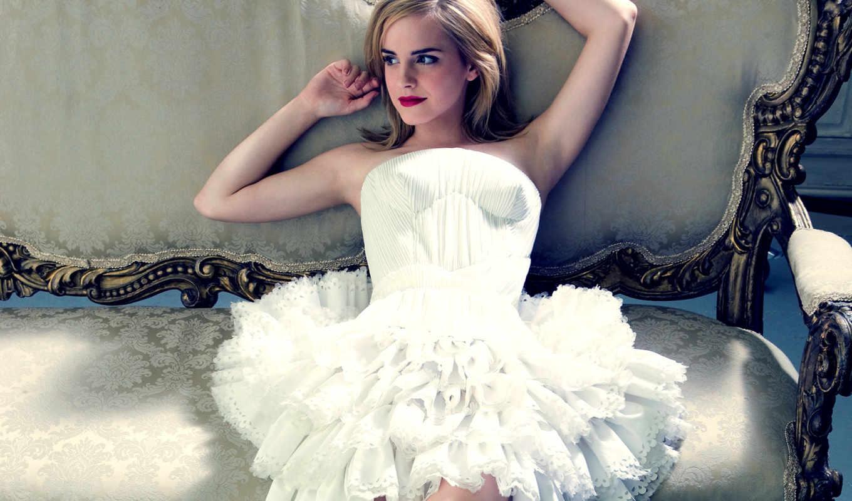 платье, devushki, instagram, emma, watson, диване, девушка, актриса, лежит, красивая,