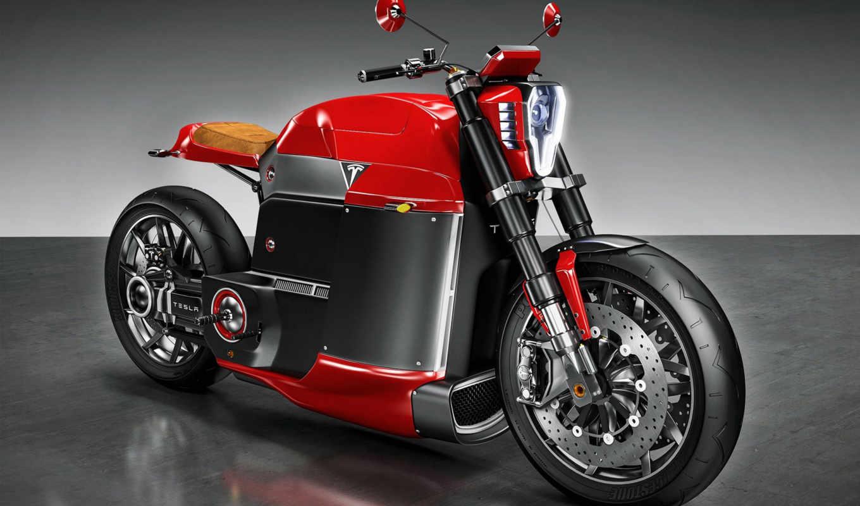 tesla, модель, concept, мотоцикл, electric, июл, дизайнера,