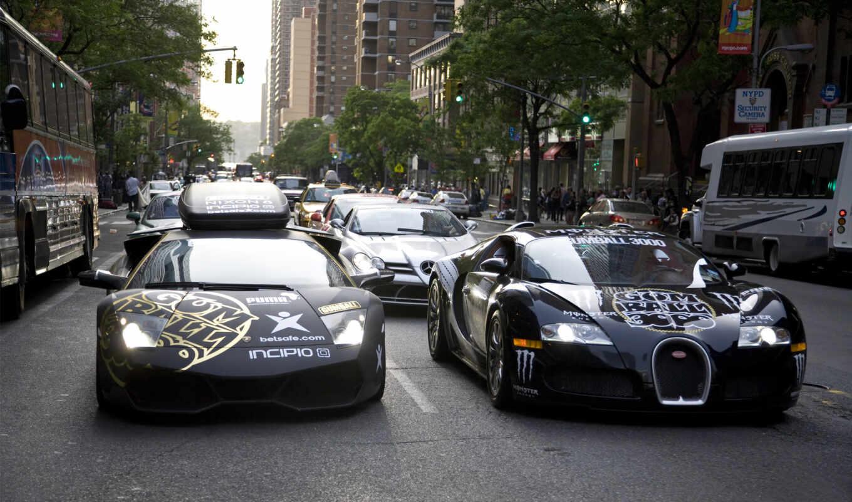 bugatti, lamborghini, veyron, город, cars, black, автомобили, aventador, машины,