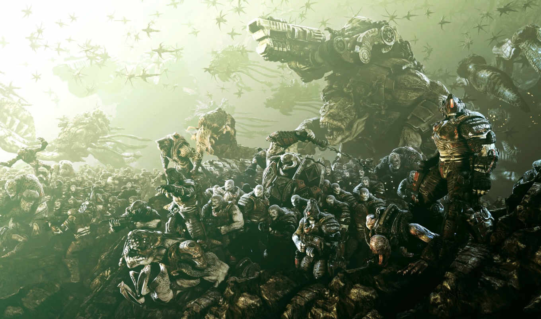 war, gears, games, битва, орда, картинка, homepage, игры,