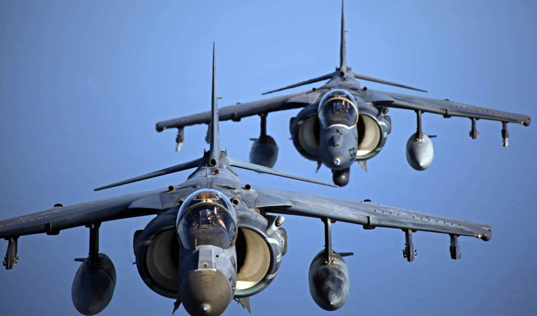 marine, разрушители, corps, formation, fly, два, после, aerial, harrier,