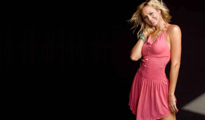 keibler, stacy, angelina, jolie, блондинка, розовое, платье, стейси,