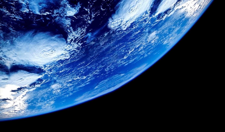 космос, земля, планета, океаны, облака, орбита,