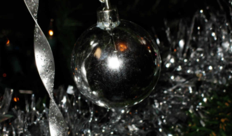 christmas, silver, image, sparkle, all, high,