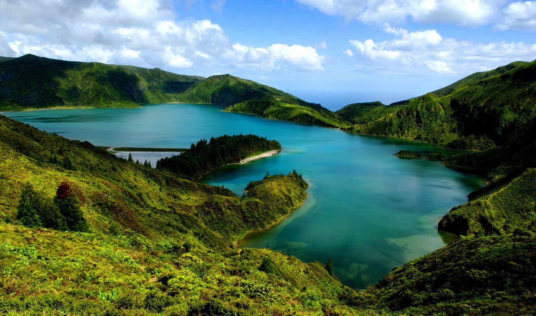 острова, san, остров, miguel, португалия, природа, азорские,