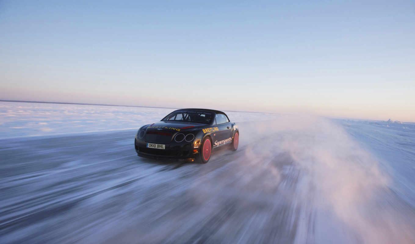 льду, record, скорости, bentley, февр, world, new,
