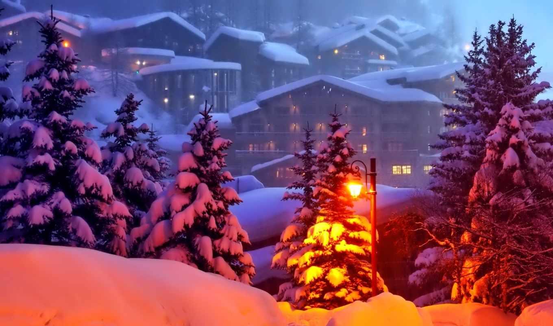 winter, mount, scenery