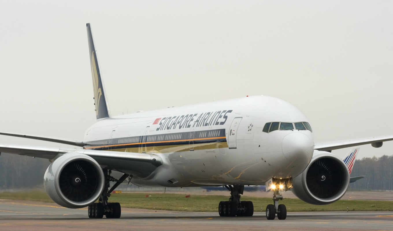 лайнер, самолёт, боинг, boeing, singapore, airlines, картинка,