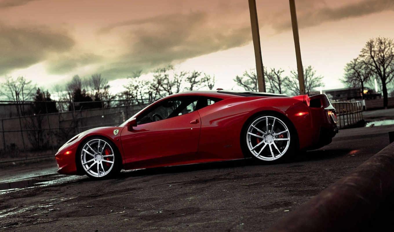 ferrari, italia, rims, cars, tuning, hangar, машина, wheels, tuned,