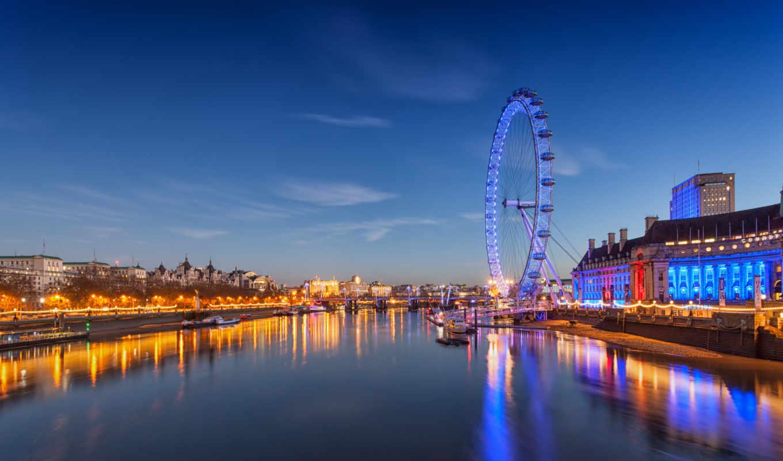 london, обозрения, колесо, англия, глаз, река, thames, англия, gorod, millennium, колесо,
