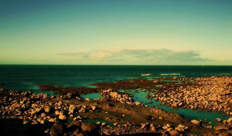 природа, landscape, небо, море, берег, февр,