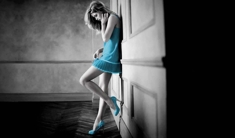 touch, color, платье, effects, смена, изображение, девушка, splash, телефон, белом,