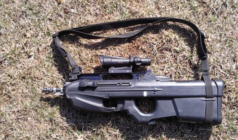 оружие, автомат, FN, F-2000, трава, оптика, ACOG
