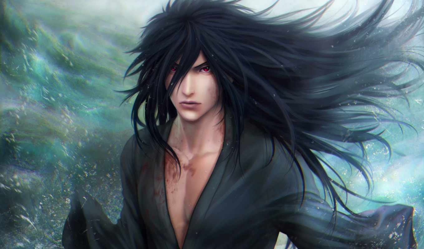 art, naruto, учиха, madara, взгляд, captain, harlock,