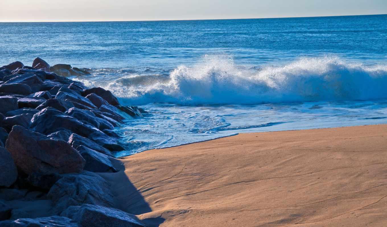 море, landscape, пляж, закат, небо, природа, rocks, нояб,