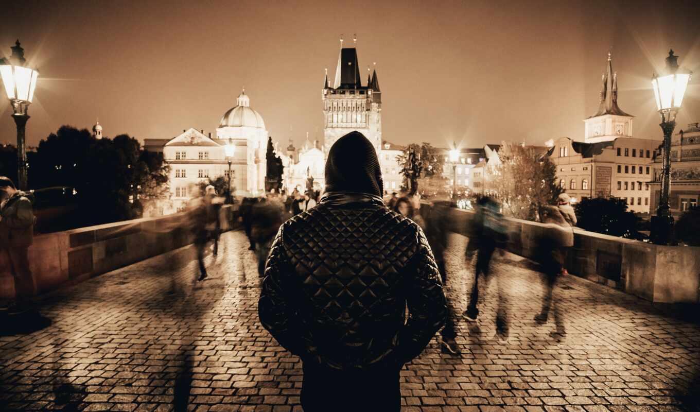 мужчина, stand, фото, source, глаза, hoodie, charles, капюшон, прага, мост