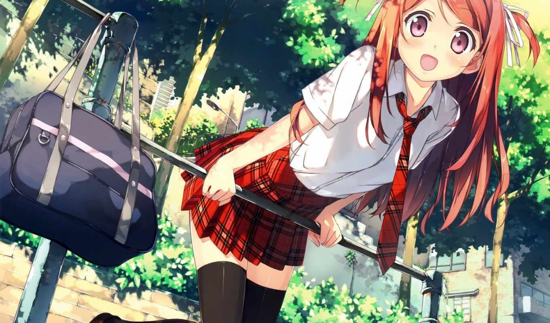 anim, школьница, amino, девушка, арта, красивый, tyanin, anime