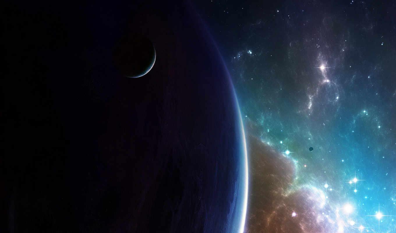 космос, спутник, планета, галактика, млечный, звезды, путь, digital,