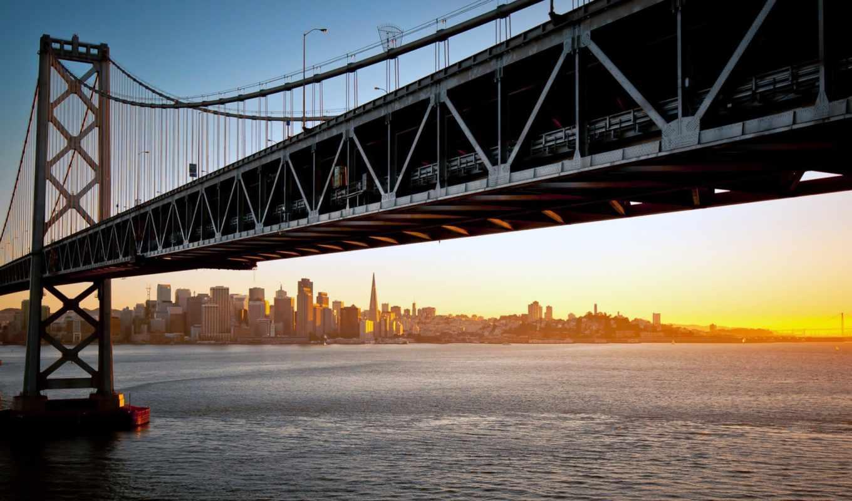 bridge, new, york, brooklyn, город, pictures, солнце,
