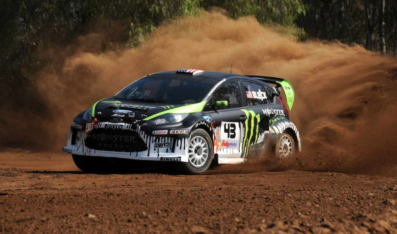 dirt, ford, fiesta, ken, energy, monster, block, песок, race, colin,
