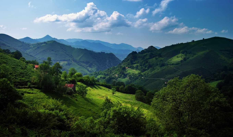 горы, природа, landscape, испания, астурия, парки, альпы, швейцария, кантабрийские,