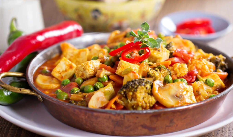 curry, verdura, rece, палуба, receta