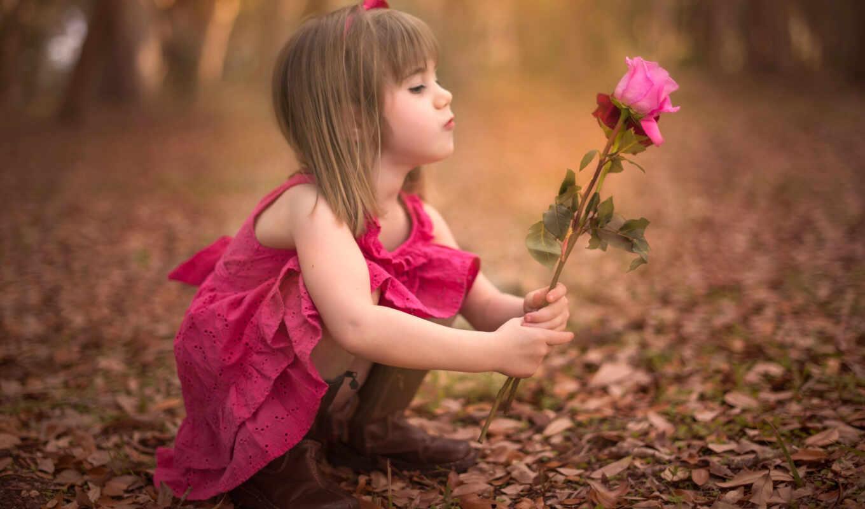 девушка, цветы, трюм, little