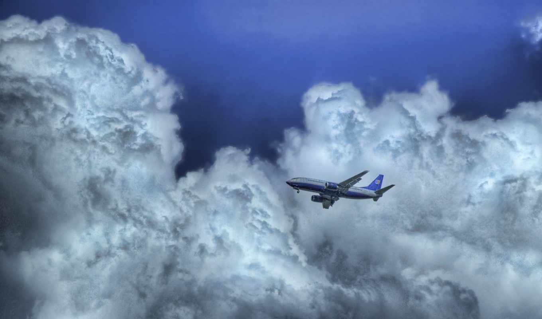 облака, небо, самолет, sky, clouds, airplanes, flight, смотрите, normal,