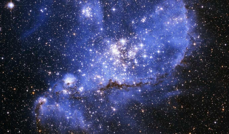 звезды, яркие, скопление, голубые, картинка, картинку,