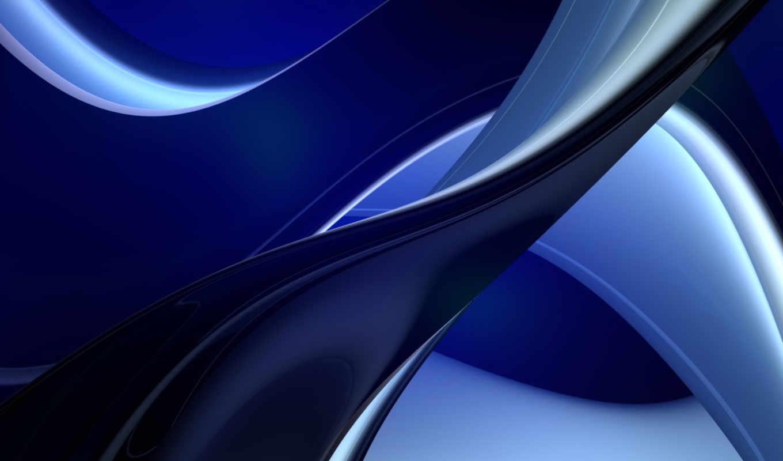 grafika, компьютерная, силует, abstrakciya, линии, модели, изгиб, чёрный, синий,