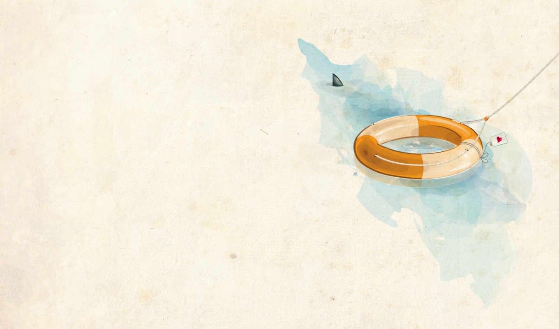 circle, минимализм, рисунок, rescue, water,