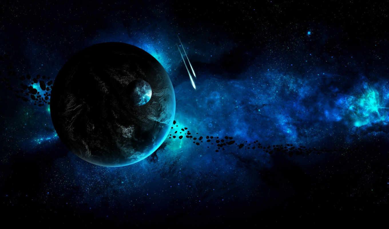 космос, планеты, астероиды, звезды, картинку, картинка,