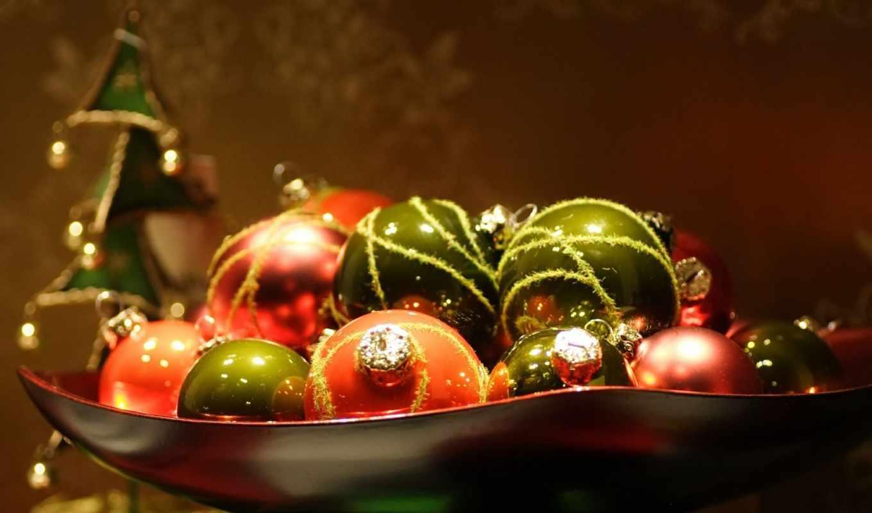новый, год, игрушки, праздники, шарик, макро, новогодние,