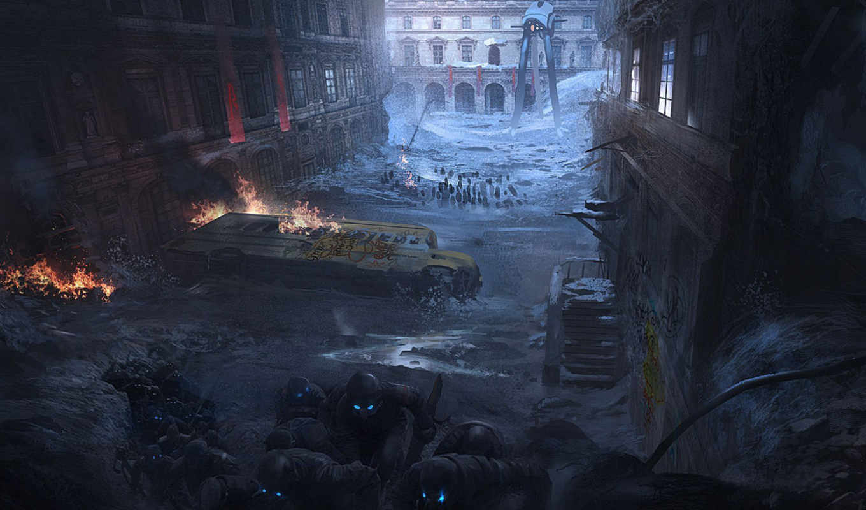 apocalyptic, пост, солдат, fantasy, scenery, апокалипсис,