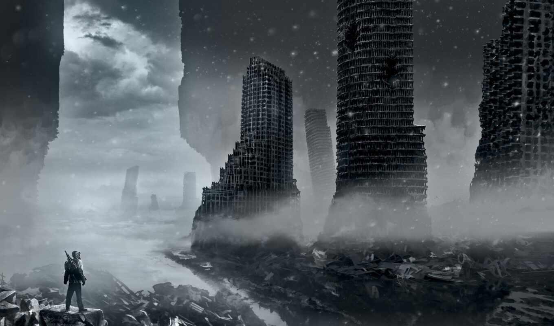 апокалипсиса, романтика, руины, apocalyptic, alexiuss, romantically, арт, правой, картинке, картинку, выбрать, кнопкой, нажать, браузера, контекстном,