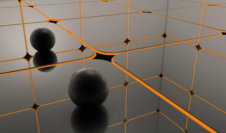 шары, view, orange, reflection, black, черные, you, abstract, download, dragons, widescreen, resolution,