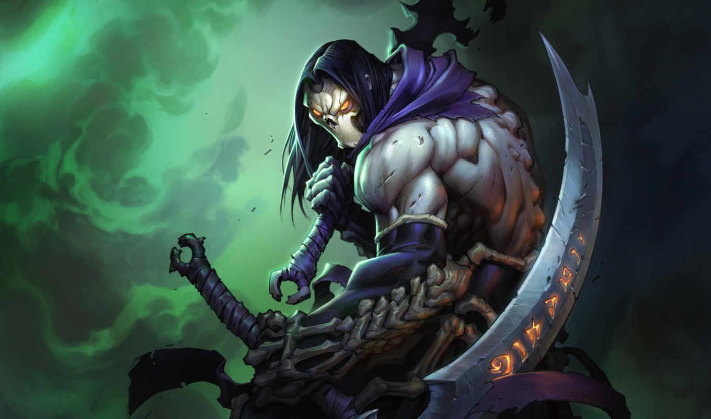 darksiders, смерть, урод, оружие, монстр, меч, игры, ладан, дышать, screenshots, косой,
