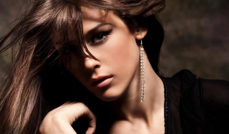 девушка, брюнетка, взгляд, глаза, лицо, волосы, alba, джессика, макияж,