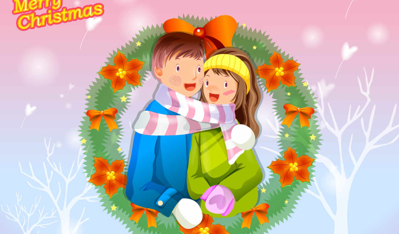 christmas, love, merry, пара, pictures, lovers, вектор,